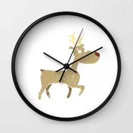 Funny Reindeer Santa Claus Christmas Party Shirt Wall Clock