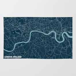 Minimalist London Map Rug