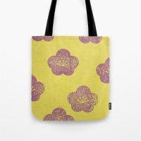 sakura Tote Bags featuring Sakura by sinonelineman