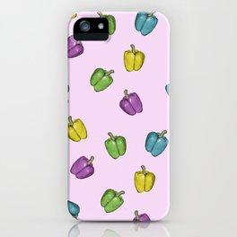 Autochrome Watercolour Pepper Pattern  iPhone Case