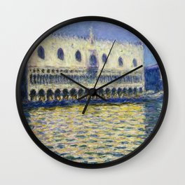 The Palazzo Ducale by Claude Monet Wall Clock