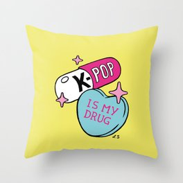 K-POP is my Drug Throw Pillow