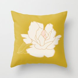 Outline Floral No. 1 Throw Pillow
