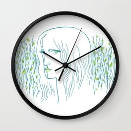Woods Woman 1 Wall Clock