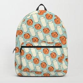 Milk & Cookies Pattern - Blue Backpack
