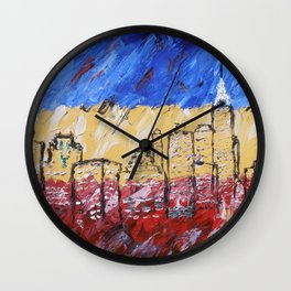 New York by Michael Wall Clock
