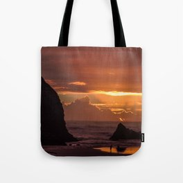 Golden Sunset on the Coast Tote Bag