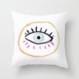 Eye I Throw Pillow