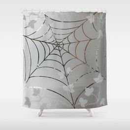 Glass Cobweb Shower Curtain