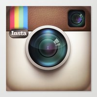 instagram Canvas Prints featuring Instagram by Max Jones