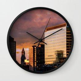 South Boston sky Wall Clock