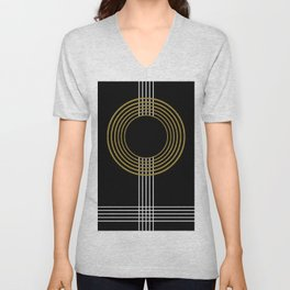 GUITAR IN ABSTRACT (geometric art deco) Unisex V-Neck