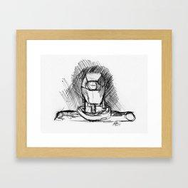 Warbot Sketch #040 Framed Art Print