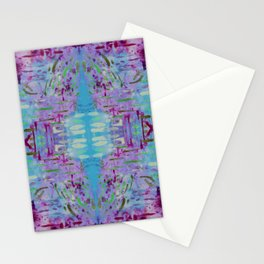 Purple Watercolor Tapestry Stationery Cards