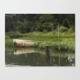 The lost boat Canvas Print