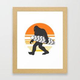 Bigfoot Surfing, Hide Seek and Go Surf  Framed Art Print