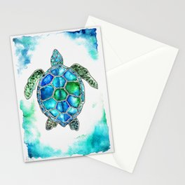 turtle in watercolors Stationery Cards