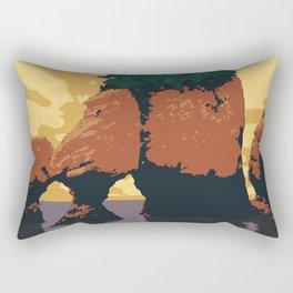 Hopewell Rocks Poster Rectangular Pillow