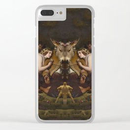 Grotesque Symmetry 4 Clear iPhone Case