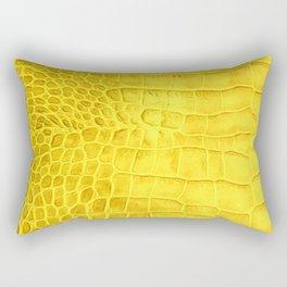 Croco leather effect - yellow Rectangular Pillow