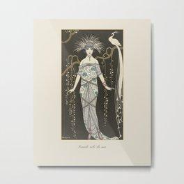 Grande robe du soir | Classic Art Deco Fashion Print | Historical, peacock and nature Metal Print