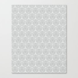Icosahedron Soft Grey Canvas Print