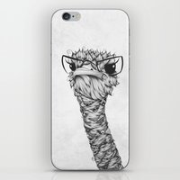 ostrich iPhone & iPod Skins featuring Ostrich by LouJah