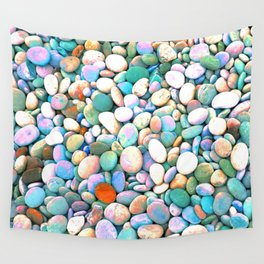 PEBBLES ON THE BEACH Wall Tapestry