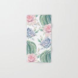 Cactus Rose Succulents Hand & Bath Towel