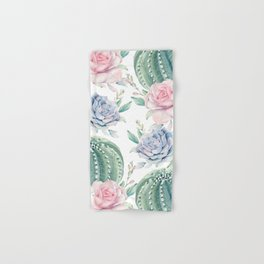 Cactus Rose Succulents Hand & Bath Towel