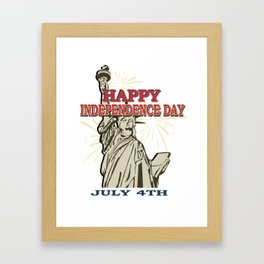 Happy Independence Day July 4th Liberty Memorial Gift Shirt Framed Art Print
