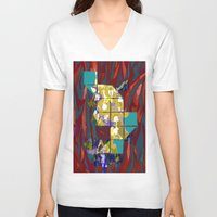 plants V-neck T-shirts featuring plants by ebdesign