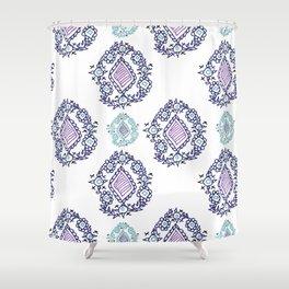 doodle ikat Shower Curtain