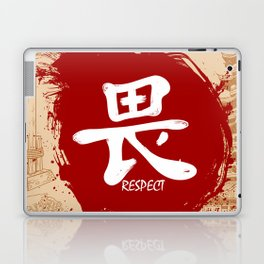 Japanese kanji - Respect Laptop & iPad Skin