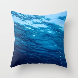 Underwater view of the sea surface. Throw Pillow