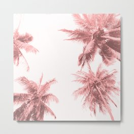California Dreamin' in Pink Metal Print