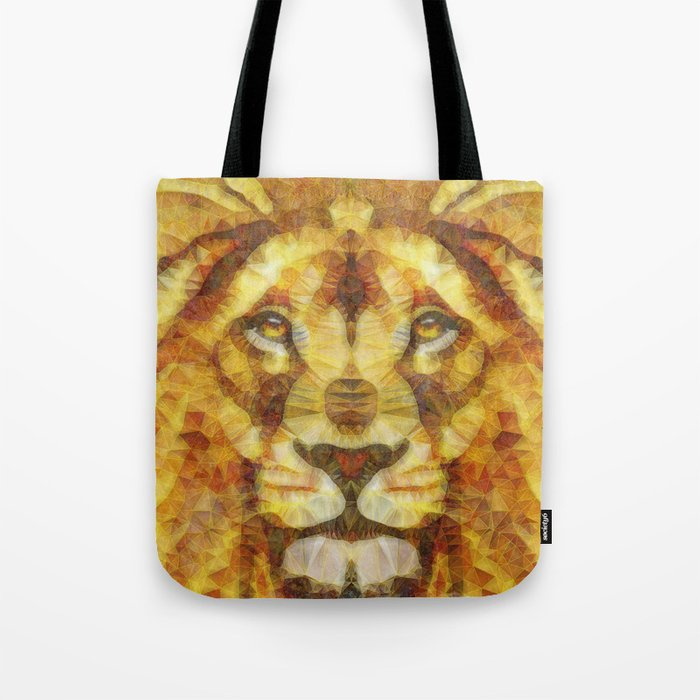 Abstract Lion King Tote Bag