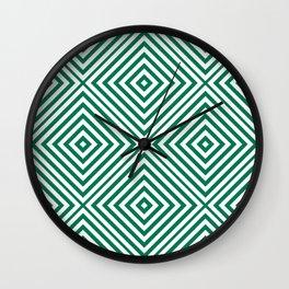 Emerald Elegant Diamond Chevron Wall Clock