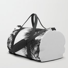 Mediterranean black and white pine tree Duffle Bag