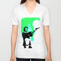 clint barton V-neck T-shirts featuring Clint by Fimbis