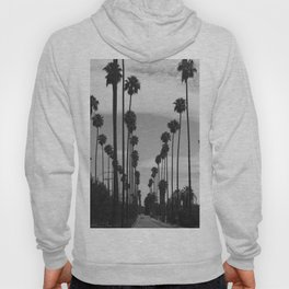Vintage Black & White California Palm Trees Photo Hoody