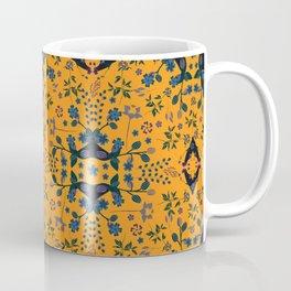 Blue orange flowers Coffee Mug