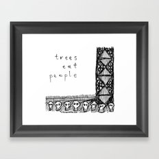 trees eat people Framed Art Print