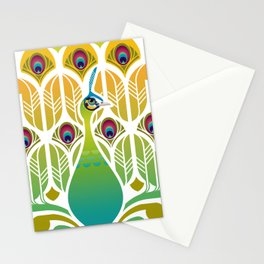 Java Green Peacock [Pavo Muticus] Stationery Cards