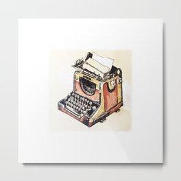 Typewriter is magic Metal Print