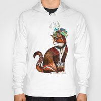wizard Hoodies featuring Wizard Cat by Sandra Dieckmann