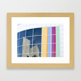 Reflections of the Getty Framed Art Print
