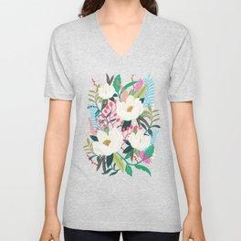 The Garden of Alice, flower, floral, blossom art print Unisex V-Neck