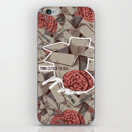 Think Outside The Box Color iPhone Skin