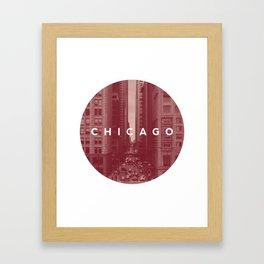 Red Chicago Framed Art Print